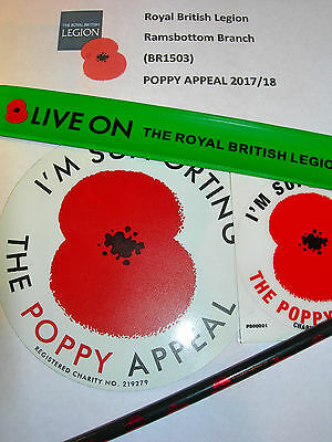 Assorted Poppy Appeal Items All Proceeds to Local RBL Poppy Appeal (Green)