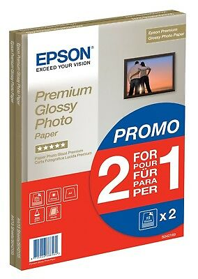 Epson Premium Glossy Photo Paper A4 2-for-1 Top Quality NEW