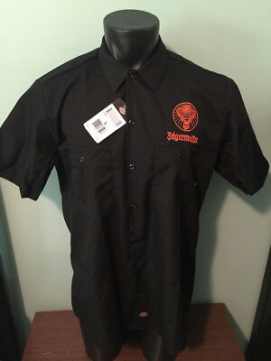 Jagermeister Dickies Button Up Short Sleeve Work Shirt Men Size Large New w Tag