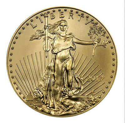 2017 - $5 1/10oz Gold American Eagle BU UNC Uncirculated - Beautiful Gold Coin ^