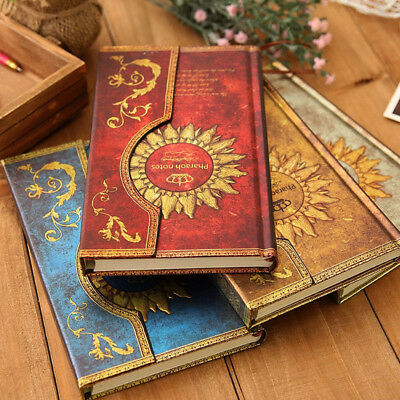 New Retro Vintage Journal Diary Notebook Cardboard Cover Sketchbook Blank Paper