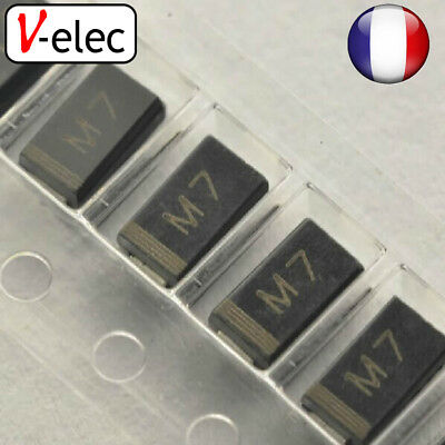 4047# DIODE M7 1N4007 SMD 1A 1000V Rectifier Diode A027 DO214