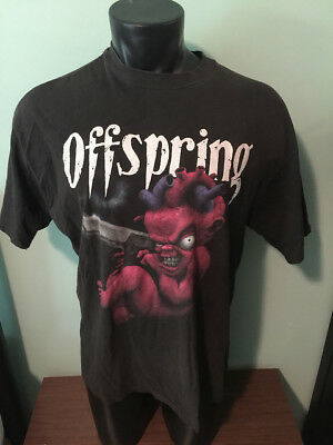 Vintage Offspring 1994 Devil Baby with Gun Band Concert T Shirt Adult XL Rare