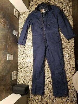 MENS SmaLL Regular WALLS Blizzard Pruf Insulated Blue Coveralls