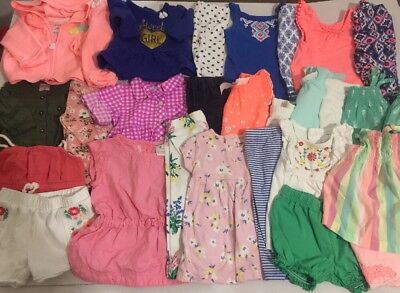 Girls 0-3m Clothes Lot Outfits Euc 5pcs Carter's Baby Lot# 20 Mixed Items & Lots Girls' Clothing (newborn-5t)