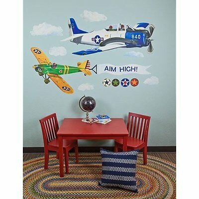 Oopsy Wall Stickers & Murals Daisy Airplanes Peel And Place Childrens Decals By