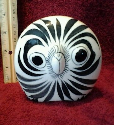 """Unique pottery/ ceramic owl figurine from Mexico Vintage 4"""""""