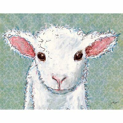 """Oopsy Posters & Prints Daisy Canvas Wall Art, Little Lamb Baby, 18"""" 14"""""""