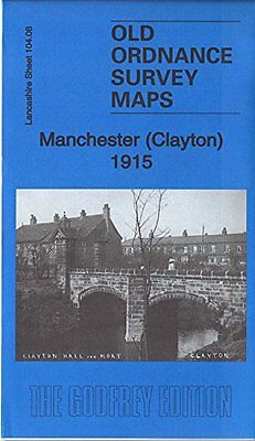 Old Ordnance Survey Map Manchester (Clayton) 1915
