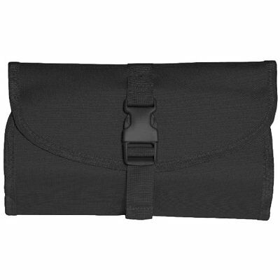 British Army Tactical Foldable Compact Wash Bag with Hanging Hook & Mirror Black
