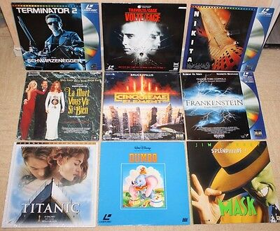 ++ lot de 9 films LASER DISC ++