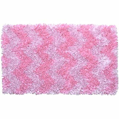 The Area Rugs Rug Market Shaggy Raggy Pink Chevron Children's Rug, 2.8' 4.8'