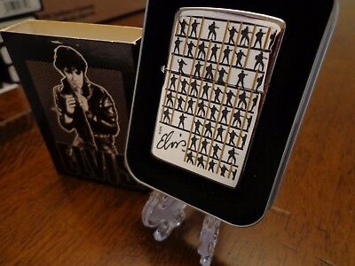 Elvis Presley Repeating Squares Zippo Lighter Mint In Box 2002