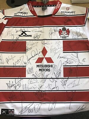 Charity Fund Raising - Signed Gloucester Rugby Squad 2016/2017 - For Rape Crisis