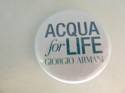 Rare Badge / broche ACQUA FOR LIFE GIORGIO ARMANI Parfum / Perfume Top !