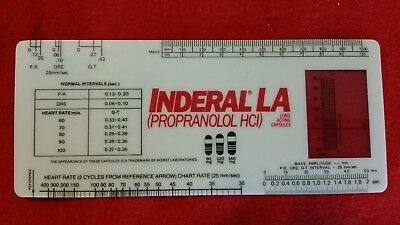 VINTAGE AYERST ADVERTISING  INDERAL PROPRANOLOL Heart Rate Reference Guide