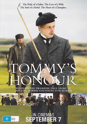 Tommy's Honour (2017) A5 Poster - Peter Mullan, Jack Lowden, Sam Neill