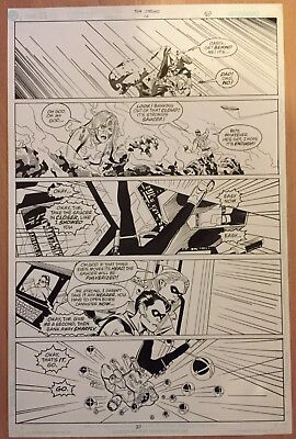 Rare Tom Strong Original Comic Art # 12 page 21 Alan Moore Chris Sprouse