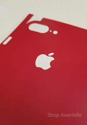 Apple iPhone 7 Plus Decal Skin by Avantelle - Blood Red Matte Finish