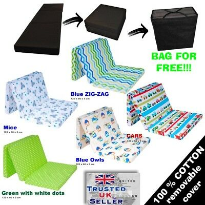 Baby Children Folding Mattress Guest travel cot mattress playmat Camp 120x60+BAG
