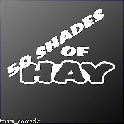 Fifty Shades of Hay Decal, Sticker, Horse Lorry, Horse Box, Horse Trailer