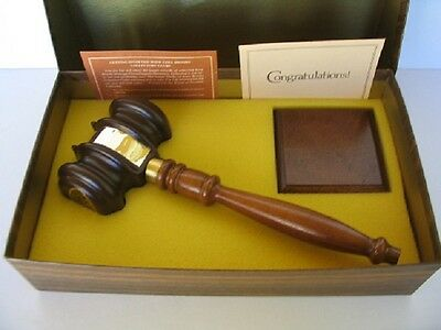 Vip Gavel Limited Edition Collectors Series Brooks Decanter W/ Case + Wood Block