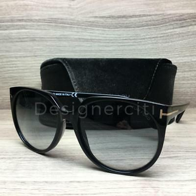998ee7e0c6 TOM FORD LIORA TF528 528 Sunglasses Black Gold 01B Authentic 70mm ...