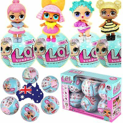 6PCS LoL Surprise Dolls Series 1 Lil Sister 7 Layers Of Surprise Toys Xmas Gifts