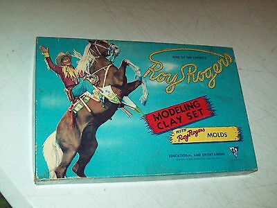 Vintage Roy Rogers king of the cowboys Modeling Clay set BOX ONLY great shape