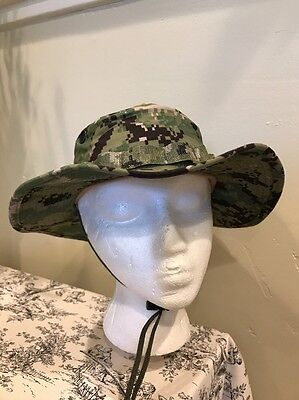NWU Type III Navy Seal Digital Woodland Boonie Hat SUN COVER size XSmall