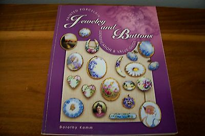 Identification/price Guide Book Painted Porcelain Jewelry And Buttons