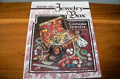 """Identification/price Guide Book Vintage An Costume Jewelry Title""""the Jewelry Box"""
