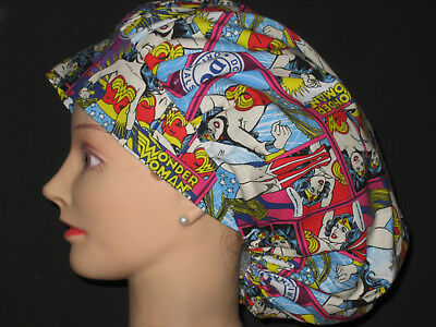 Surgical Scrub Hats/Caps Wonder Woman
