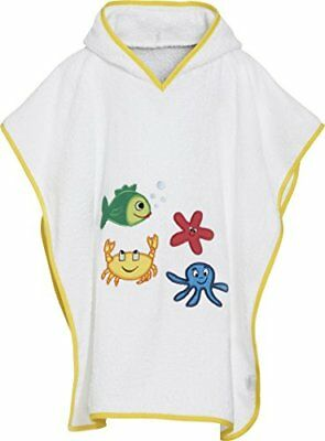 Playshoes Kinder Frottee-Poncho, Badeponcho Meerestiere mit Kapuze, Accappatoio