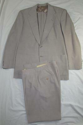 Vtg 50s 2 Pc Super Lightweight Wool Hollywood Drop Loop Suit Jacket & Pant VLV