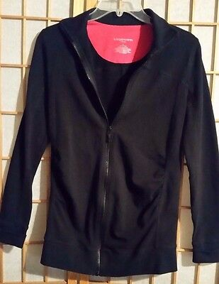 Liz Lange Maternity Size S Small Women's Maternity Full Zip Jacket Black