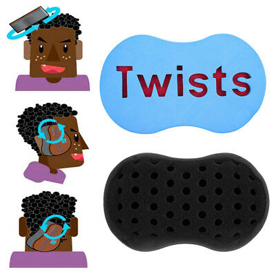 Twist éponge Magic Barber Sponge Hair Brush Comb Dreads Locking Twists Coil