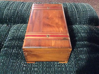 Vintage Pilliod Cedar Treasure Box - Mirror