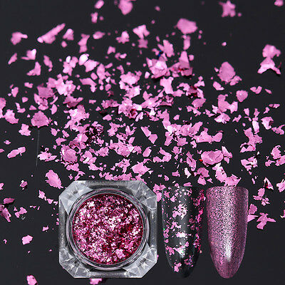 Nail Sequins Glitter Paillette Powder Dust Born Pretty Flakes Pink Irregular DIY