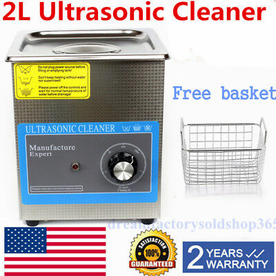 2 L Liter Industry Heated Ultrasonic Cleaners Cleaning Equipment Heater w/Timer