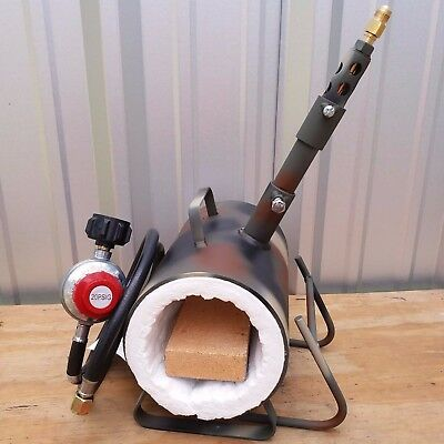 "Propane Forge for Knifemaking Blacksmith Gas Forge 48"" Hose & Regulator (CAMO)"