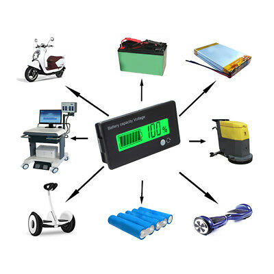 12V LCD Battery Capacity Tester Indicator Car Lead-acid Lithium Voltage Meter
