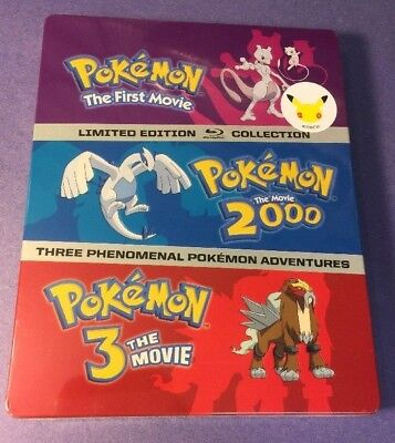Pokemon 3-Movie Pack  [ Limited STEELBOOK Package ] (Blu-ray Disc) NEW