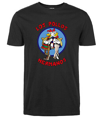 Men Tops Cartoon Shirts Los Pollos Hermanos Shirt Breaking Bad T-Shirt Science