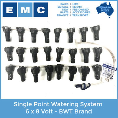 Single Point Watering System 6 x 8 Volt - BWT Brand for Low Speed Vehicles