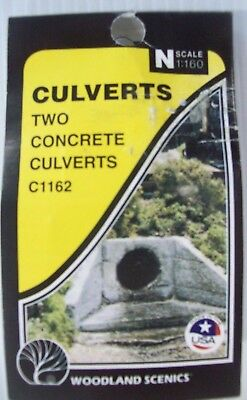 Woodlands Scenic N Scale Two Concrete Culverts