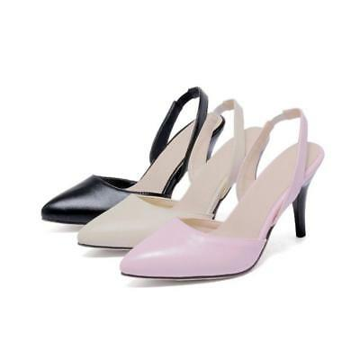 Women's Synthetic Leather Shoes Pumps High Heel Ankle Strap Sandals JJ