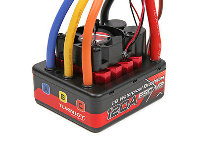 RC TrackStar 1/8th Brushless Sensorless 120A waterproof ESC V2