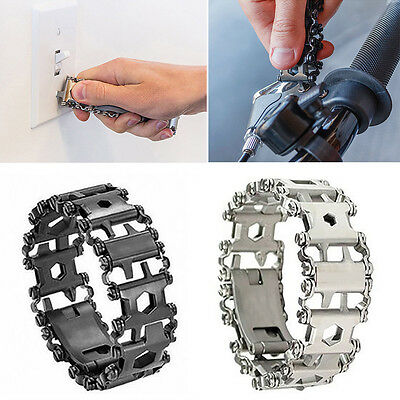 29 in1 Multifunction Bracelet Wristband Bottle Opener Screwdriver Camping Hiking