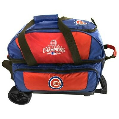 Chicago Cubs 2 Ball Roller Bowling Bag - World Series Edition - Brand New Item!!